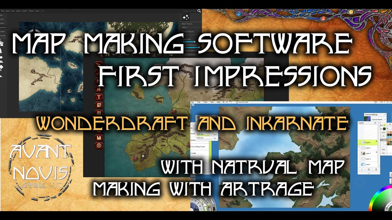 World Map Making Software.Creating A Realistic Fantasy Map First Impressions Of Map Making