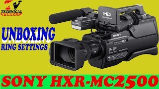 Unboxing/Review Sony HXR-MC2500 Professional Camcorder me by Vishal Sahu