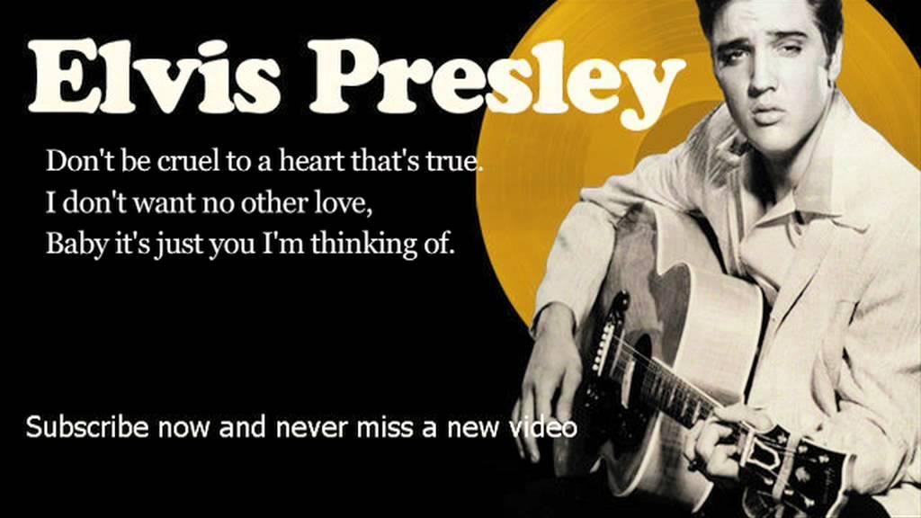 Elvis Presley Don T Be Cruel Lyrics Official Youtube