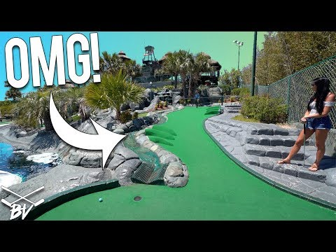 YOU HAVE TO SEE THIS AMAZING MINI GOLF COURSE! - CRAZY HOLE IN ONES AND AMAZING HOLES!