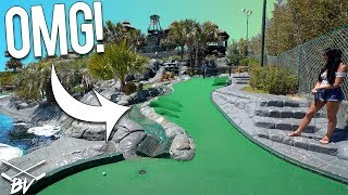 YOU HAVE TO SEE THIS AMAZING MINI GOLF COURSE! - CRAZY HOLE IN ONES AND AMAZING HOLES!   Brooks Holt
