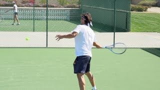 Marcos Baghdatis Forehand and Backhand In Super Slow Motion 2 - Indian Wells 2013 - BNP Paribas Open
