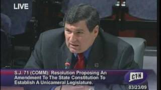 Gary LeBeau Testimony In Support of a Unicameral Legislature for CT - 03/23/09 - Part 1 of 3