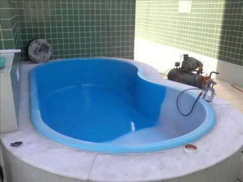 Reforma e pintura da piscina pequena do cond village - Piscina prefabricada pequena ...