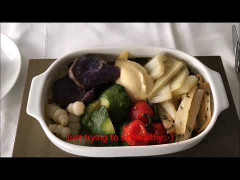 Air France La Premiere First Class Inflight Meal CDG-JFK