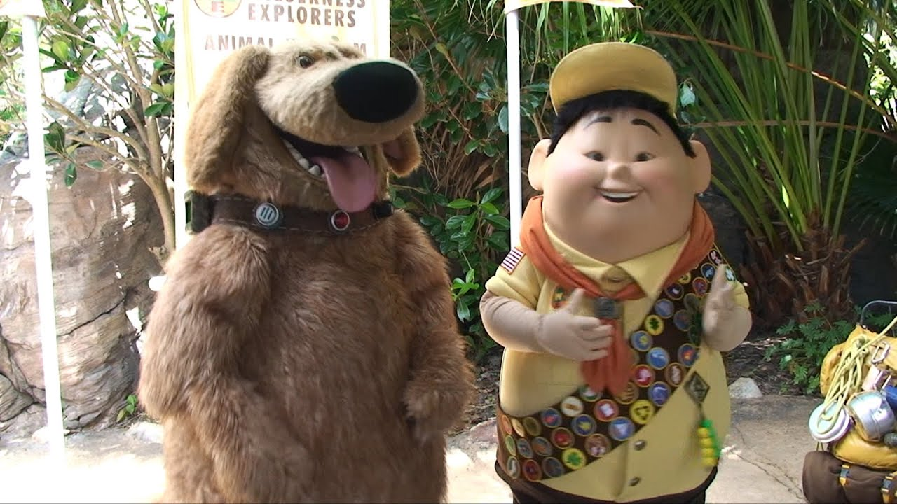Dug and russell from pixars up meet and greet at disneys animal dug and russell from pixars up meet and greet at disneys animal kingdom wilderness explorers youtube m4hsunfo