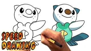 How to Draw Oshawott from Pokemon (Speed Drawing)