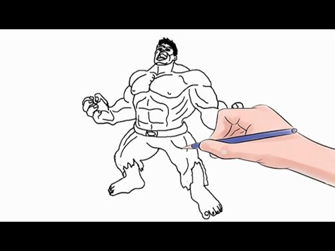 How To Draw The Hulk Easy Step By Step Youtube
