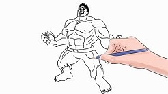 How to Draw The Hulk Easy Step by Step
