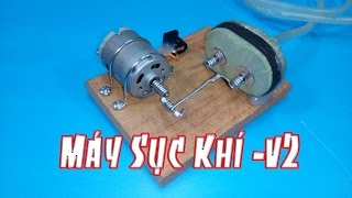 Hướng dẫn làm máy sục khí cho bể cá mini v2, làm bể cá cho riêng mình