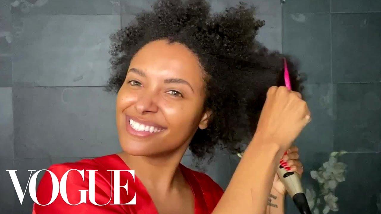Kat Graham's Natural Hair Beauty Routine