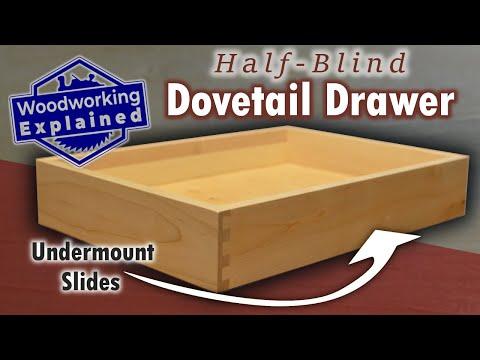 Half-Blind Dovetail Drawer