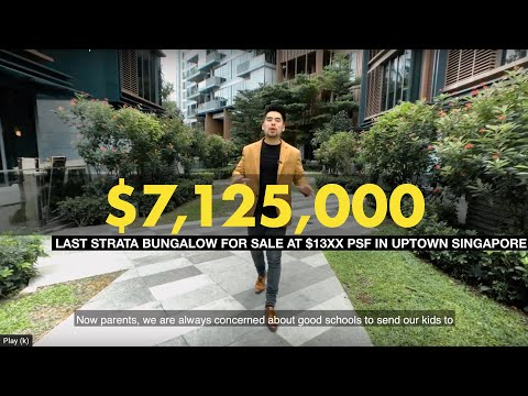 Inside The Last Brand New $7,125,000 Strata Bungalow At Goodwood Grand | Singapore Landed