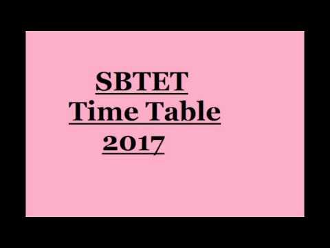 ts sbtet diploma time table  ts sbtet diploma time table