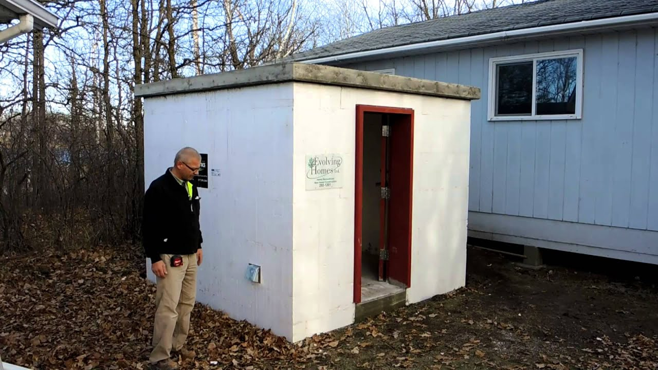 Fox blocks storm shelter short version youtube for Fox blocks house plans