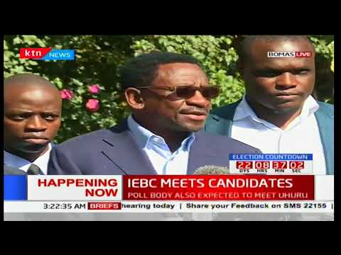 James Orengo address to the press after meeting with IEBC