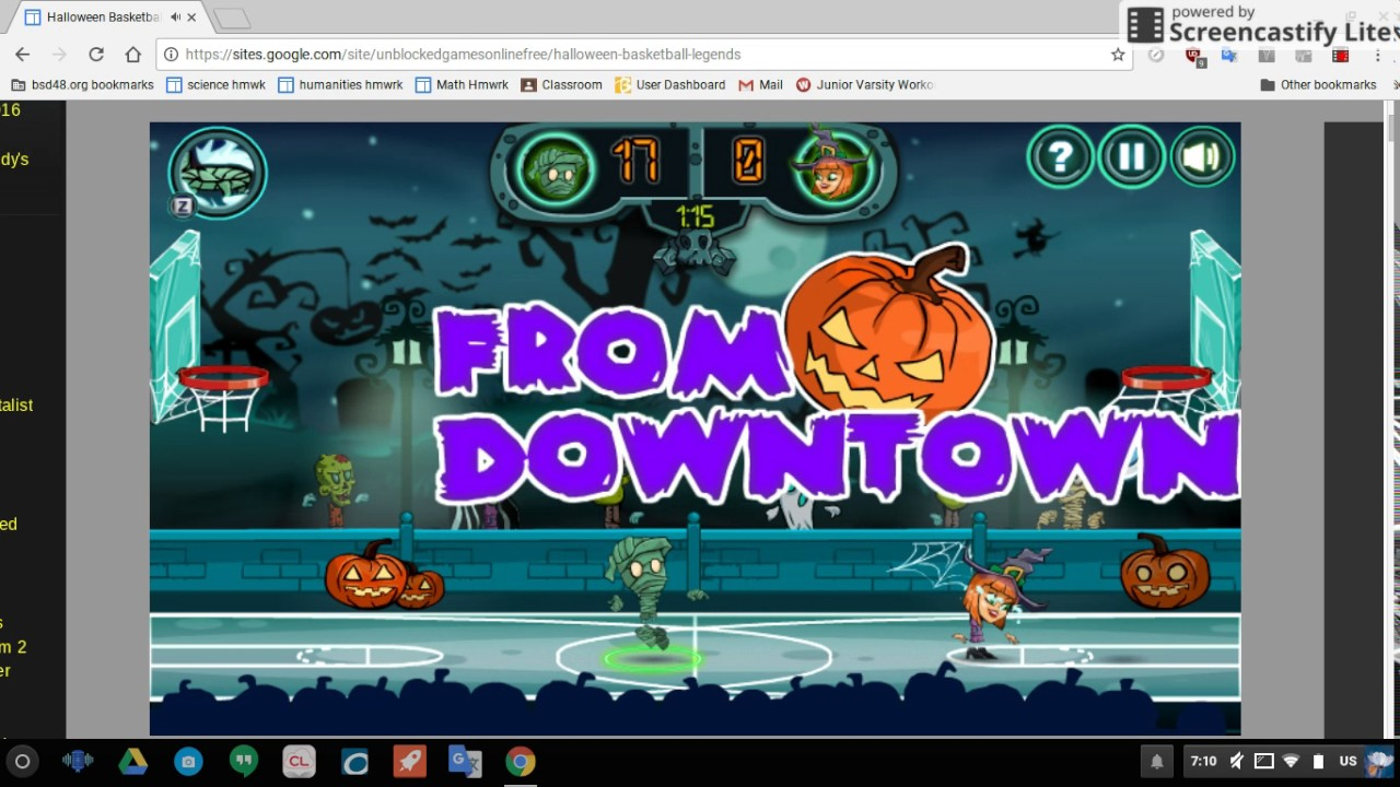 halloween version of basketball legends.. - YouTube