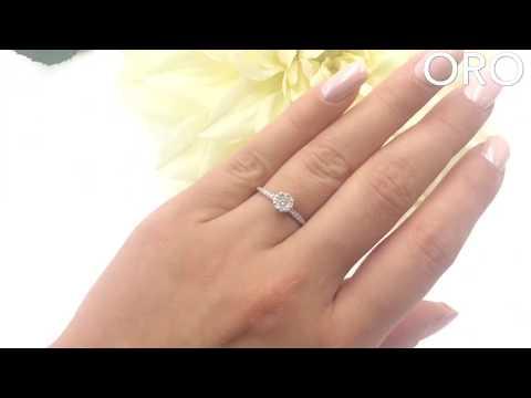 Изумительная россыпь бриллиантов в нежном кольце из белого золота