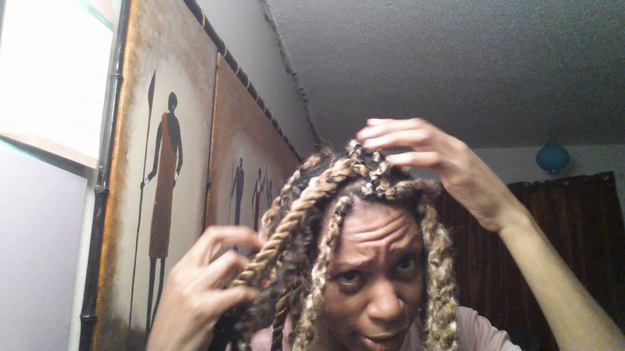 Blonde Marley Twists Hashtag Hot Mess