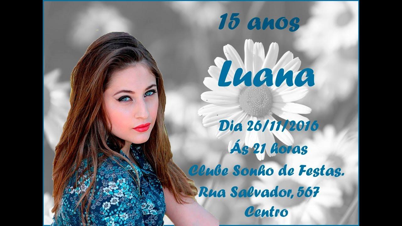 Convite De Aniversario De 15 Anos: COMO FAZER CONVITE DE 15 ANOS COM FOTO NO WORD 2. ️