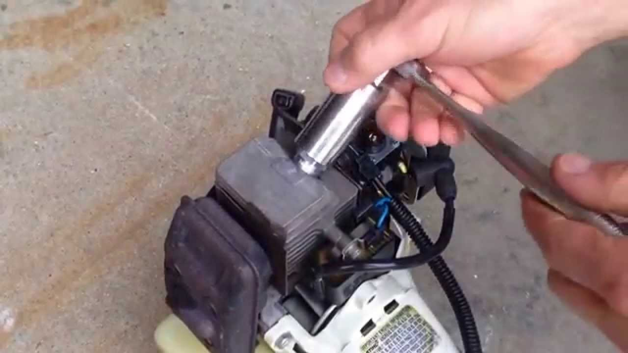 testing and replacing the ignition coil on a stihl fs 80r string trimmer [ 1280 x 720 Pixel ]