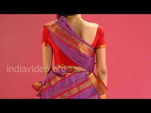 How to wear a chettinad saree in Tamil pinkosu style