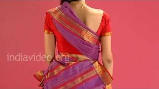 Wearing Chettinad Saree In Tamil Pinkosu Style - Tutorial