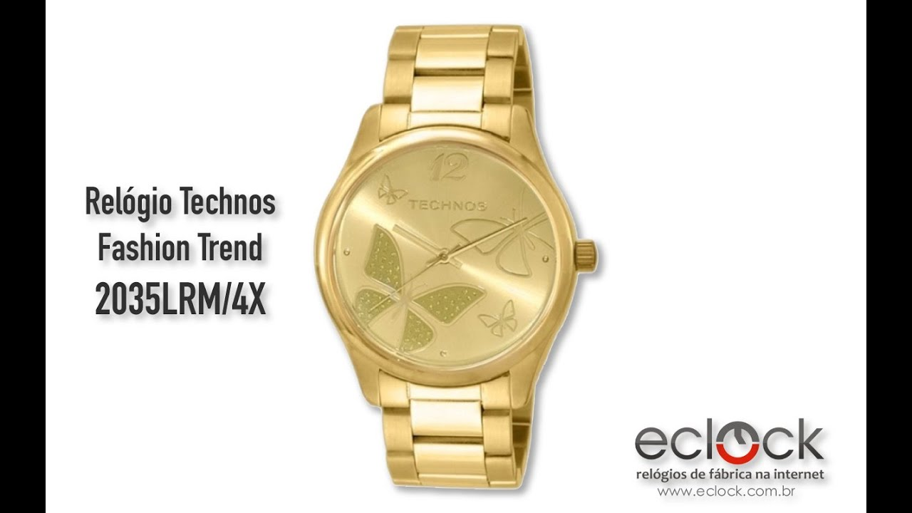 6e1ab6f5706c3 Relógio Technos Feminino Fashion Trend 2035LRM 4X - Eclock - YouTube