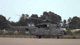 Spain Air Force Aerospatiale AS 332B1 Super Puma (803-11) Taxing at Malaga AGP