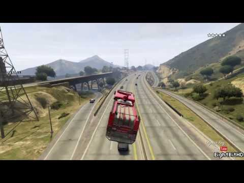 GTA 5 Flying Firetruck HD Grand Theft Auto 5