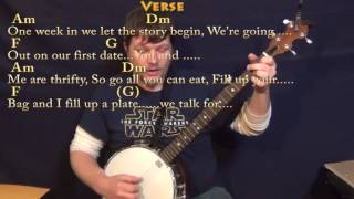 Shape of You (Ed Sheeran) Banjo Cover Lesson in Am with Chords/Lyrics Mp3