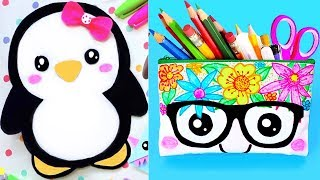 DIY SCHOOL SUPPLIES! 15 DIY Pencil Cases For Back To School