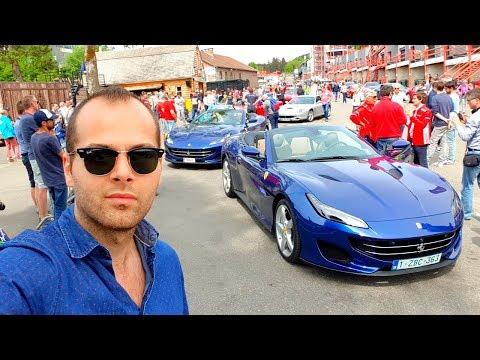 Plus de 200 FERRARI et une LaFerrari UNIQUE ! Cars Spotting à SPA !