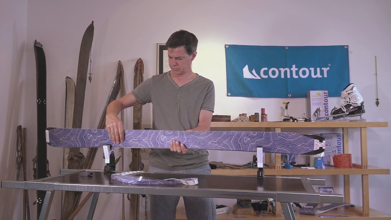 trimming hybrid climbing skins with new trim tool
