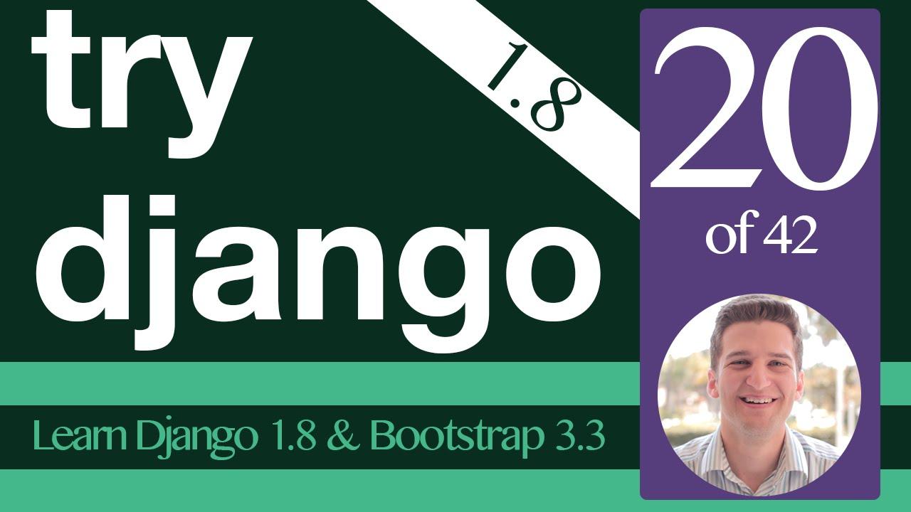 Try Django 1.8 Tutorial - 20 of 42 - Django Templates Include ...