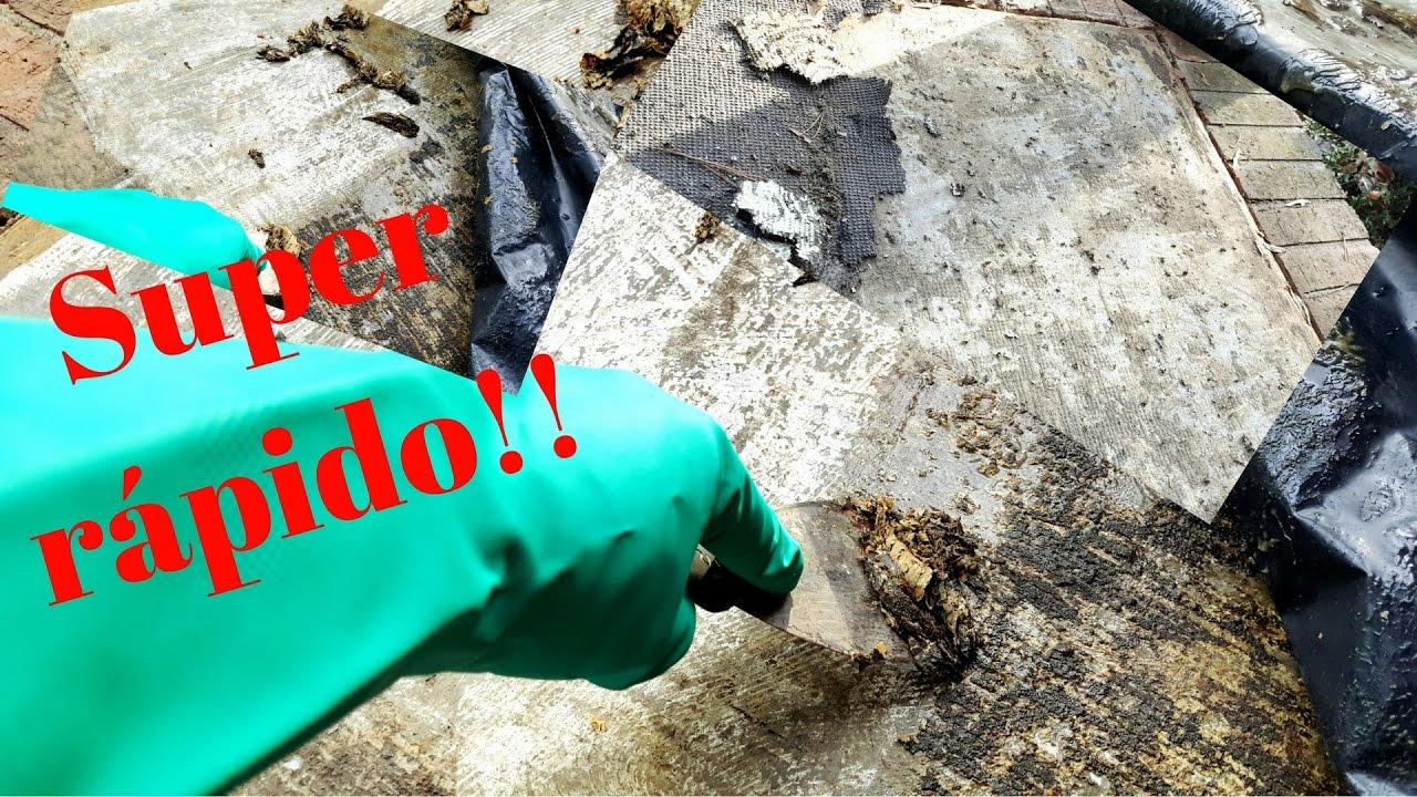 Como remover pegante de pisos y paredes youtube - Como quitar rayones del piso vinilico ...