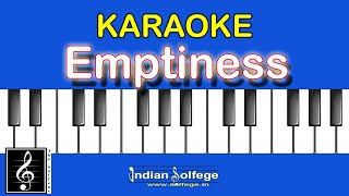 Emptiness Music | Gajendra Verma| Karaoke| The Solfege India|