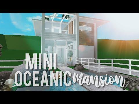 Bloxburg Mini Oceanic Mansion Youtube