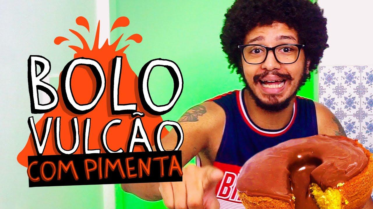 COMO FAZER BOLO VULCÃO (LARANJA COM CHOCOLATE)? - COZINHA COM PIMENTA