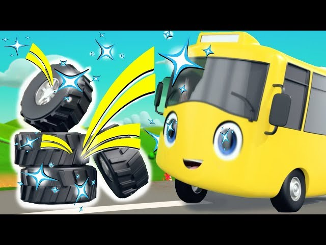 Buster New Tyres - Go Buster   BRAND NEW!   Baby Songs   Cartoons For Kids   Little Baby Bum