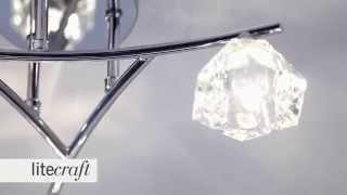 Jewel 3 Light Semi Flush Ceiling Light | Litecraft - Lighting Your Home