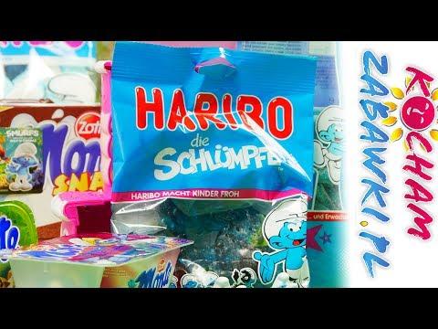 Smerfne Smakołyki – Smerfy: Stikeez Lidl & Monte & Haribo & Mlekołaki – Bajki i unboxing