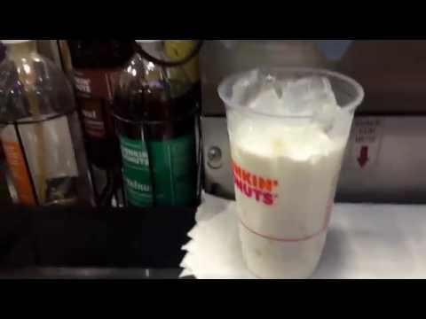How to make Ice Latte at Dunkin donuts training 101 by professional