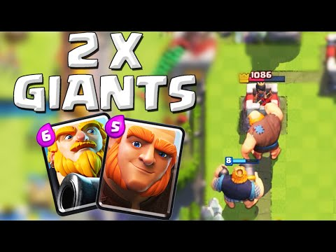 Clash Royale - DOUBLE GIANTS | Giant + Royal Giant Attack Strategy