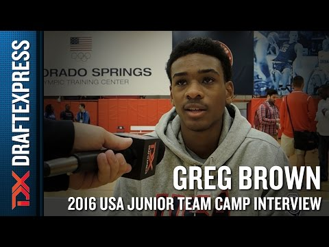 Greg Brown Interview at USA Basketball Junior National Team Camp