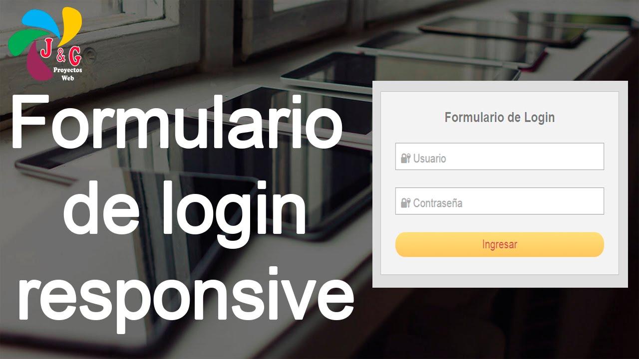 Diseñando un Formulario de Login responsive- HTML y CSS - YouTube
