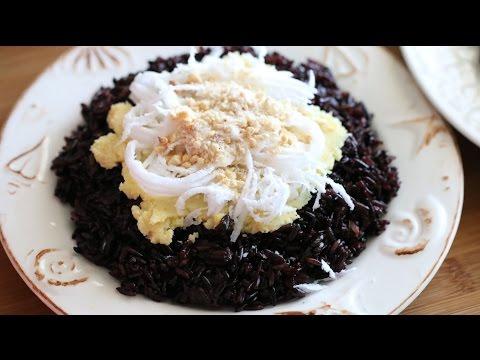 Xoi Nep Than (Vietnamese Steamed Black Sticky Rice ) Recipe