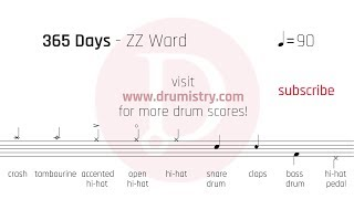 ZZ Ward - 365 Days Drum Score