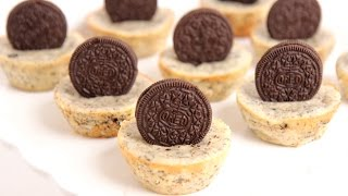 Mini Oreo Cheesecake Recipe - Laura Vitale - Laura In The Kitchen Episode 799