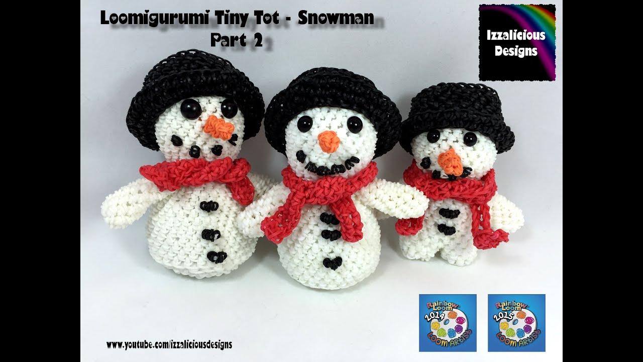 Amigurumi Snowman : Loomigurumi snowman scarf pt tiny tot christmas figure